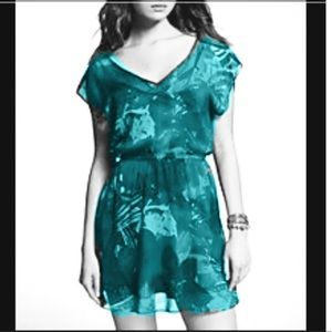 $60 Blue Green Peacock Feathers Express Dress